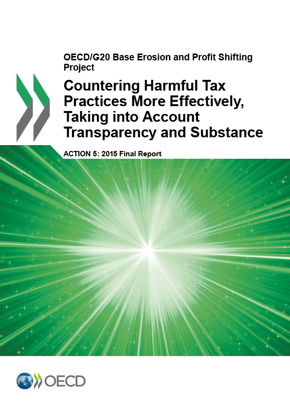Action 5 - Countering Harmful Tax Practices More Effectively, Taking into Account Transparency and Substance