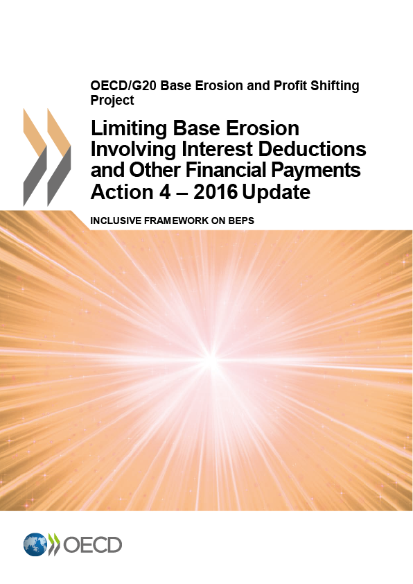 Action 4 - 2016 - Limiting Base Erosion Involving Interest Deductions And Other Financial Payments